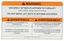 Vestil WP-WS work platform warning sign w/ hardware