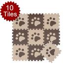Aspire Puzzle Tile Mat Patchwork Toddler Play Mat 10 Sq. Ft, Set of 10