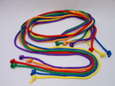 Everrich EVA-0014 Durable Nylon Jump Ropes - set of 6 colors, 10' L