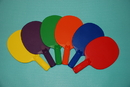 Everrich EVB-0056 Plastic Ping Pong Paddle - set of 6 colors, 10