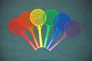 Everrich EVB-0058 Rainbow Tennis Rackets - set of 6, 21