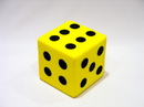 Everrich EVM-0015 Foam Dice W/dots-- 3 1/4