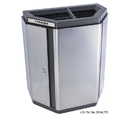 Ex-Cell Kaiser ECH-HHX 2TR SS/BL Echelon Half-Hex Collection Indoor Receptacle