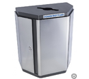 Ex-Cell Kaiser ECH-HHX R SS/BL Echelon Half-Hex Collection Indoor Receptacle