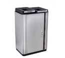 Ex-Cell Kaiser ECH-SL 2TR SS/BL Echelon Slim Collection Indoor Two Stream Receptacle