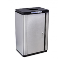 Ex-Cell Kaiser ECH-SL R SS/BL Echelon Slim Collection Indoor Receptacle