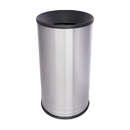 Ex-Cell Kaiser INT1528 F SS/BLX International Collection Stainless Steel Waste Receptacle with Funnel Top