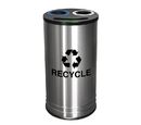 Ex-Cell Kaiser RC-1528-3 SS NY NY Smiley 3 Stream Recycling Receptacle