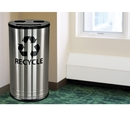 Ex-Cell Kaiser RC-1528-3 SS Smiley 3 Stream Recycling Receptacle