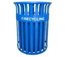 Ex-Cell Kaiser RC-SC2633 RBL Streetscape Classic Outdoor Recycling Receptacle