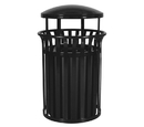 Ex-Cell Kaiser SCD-2633 Streetscape Classic Outdoor Trash Receptacle with Canopy