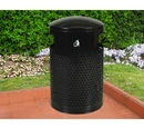 Ex-Cell Kaiser WR-2441 T BLK Landscape Series Large Capacity Trash Receptacle