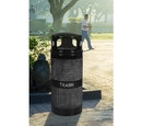 Ex-Cell Kaiser WR-34R DM BLACK Landscape Series 34 Gallon Perforated Trash Receptacle with Dome Top
