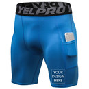 TOPTIE Personalized Men's Compression Baselayer Shorts Personalized Cool Dry Workout Leggings