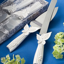 FashionCraft 2413 Butterfly Design Cake Knife/Server Set