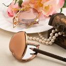 FashionCraft 5960 Bronze Metallic Heart Compact Mirror