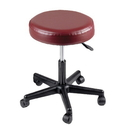 Generic 07-7062 Pneumatic Mobile Stool, No Back, 18-22 Inch Height, Gray Upholstery