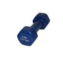 CanDo 10-0554 CanDo vinyl coated dumbbell - 5 lb. - Blue, each