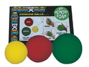 CanDo 10-0779-12 Cando Memory Foam Squeeze Ball - 3-Piece Sets (Yellow, Red, Green)