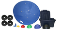 CanDo 10-1735 Multi-Axial Positioning System - Board, 5-Ball Set With Tub, 2 Weight Rods With Weights