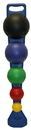 CanDo 10-1742 Cando Mvp Balance System - 5-Ball Set With Wall Rack (1 Each: Yellow, Red, Green, Blue, Black)