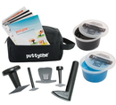 Puttycise 10-2852 Puttycise Theraputty Tool - 5-Tool Set With 2 X 1 Lb Putties (Blue And Black), With Bag