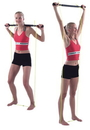 CanDo 10-2979 Padded Exercise Bar With Tubing, Unweighted
