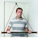 CanDo 10-5061 Cando Over Door Exercise Bar And Tubing, Red - Light