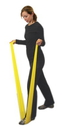 CanDo 10-5608 Cando Latex Free Exercise Band - 4' Length, 5-Piece Set (1 Each: Yellow, Red, Green, Blue, Black)