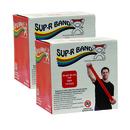 Sup-R Band 10-6332 Sup-R Band Latex-Free Exercise Band - Twin-Pak - 100 Yard - (2 - 50 Yard Boxes) - Red