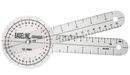Baseline 12-1001-25 Baseline Plastic Goniometer - 360 Degree Head - 8 Inch Arms, 25-Pack