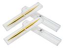 AFH massage stick set, gold plated, w/box, medium/large
