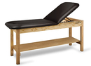 CanDo® Treatment Table w/ Adjustable Back & Shelf, 400 LB Capacity, 72