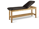 CanDo® Treatment Table w/ Adjustable Back & Shelf, 400 LB Capacity, 78