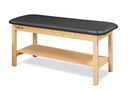 CanDo® Treatment Table w/Flat Top and Shelf, 400 LB Capacity, 72