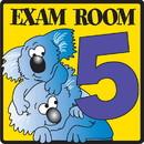 Clinton 15-4634 Clinton, Exam Room 5 Sign