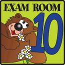 Clinton 15-4639 Clinton, Exam Room 10 Sign