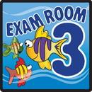 Clinton 15-4653 Clinton, Sign, Ocean Series, Exam Room 3 Sign