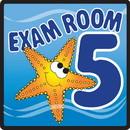 Clinton 15-4655 Clinton, Sign, Ocean Series, Exam Room 5 Sign