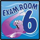 Clinton 15-4656 Clinton, Sign, Ocean Series, Exam Room 6 Sign