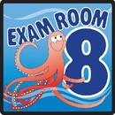Clinton 15-4658 Clinton, Sign, Ocean Series, Exam Room 8 Sign