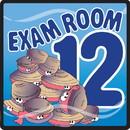 Clinton 15-4662 Clinton, Sign, Ocean Series, Exam Room 12 Sign