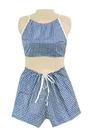 Dipsters 20-1041 Dipsters Patient Wear, Women'S Bibb-Top W/Shorts, Medium