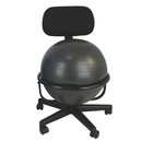CanDo 30-1790 Cando Ball Chair - Metal - Mobile - With Back - No Arms - With 22