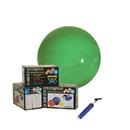 CanDo 30-1846 Cando Inflatable Exercise Ball - Economy Set - Green - 26 Inch (65 Cm) Ball, Pump, Retail Box