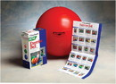 Thera-Band 30-1877B Thera-Band Inflatable Exercise Ball - Pro Series Scp - Red - 22 Inch (55 Cm), Retail Box
