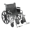 43-1909 Sentra Ec Heavy Duty Wheelchair, Detachable Desk Arms, Elevating Leg Rests, 22
