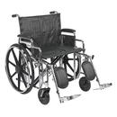 43-1919 Sentra Extra Heavy Duty Wheelchair, Detachable Desk Arms, Elevating Leg Rests, 24