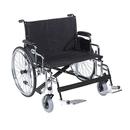 Sentra EC Heavy Duty Extra Wide Wheelchair, Detachable Desk Arms, Swing away Footrests, 28
