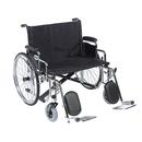 Sentra EC Heavy Duty Extra Wide Wheelchair, Detachable Desk Arms, Elevating Leg Rests, 30